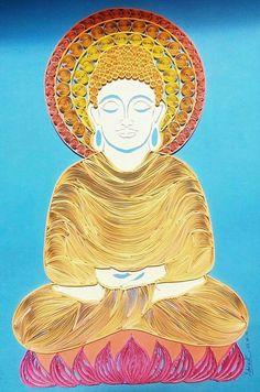 Quilling of Buddha by Debhasish sarkar........