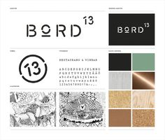 Branding and guidelines for Malmö restaurant Bord 13 by Swedish graphic design studio Snask Brand Identity Design, Corporate Design, Logo Design, Brand Design, Design Design, Restaurant Identity, Logo Branding, Logos, Branding Ideas