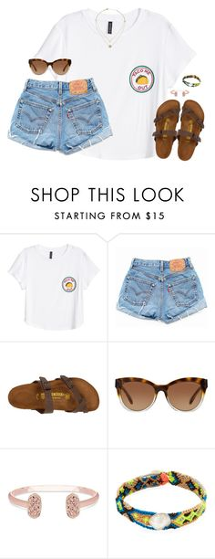 """""""taco"""" by kaley-ii ❤ liked on Polyvore featuring H&M, Levi's, Birkenstock, Michael Kors, Kendra Scott and Dezso by Sara Beltrán"""