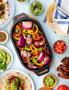 Learn how to make fajitas with this SUPER easy veggie fajita recipe. Fresh fajita veggies get tossed in a flavor-packed, 5-ingredient marinade and grilled to charred perfection. Great for summer entertaining! | Love and Lemons #dinnerrecipes #healthyrecipes #easyrecipe #grillingrecipes