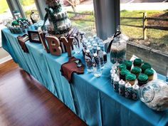 Turquoise & Brown baby Shower Baby Shower Party Ideas | Photo 2 of 39 | Catch My Party