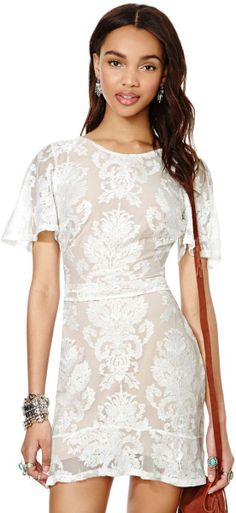 Nasty Gal For Love and Lemons San Marcos Mini Dress in White | Lyst