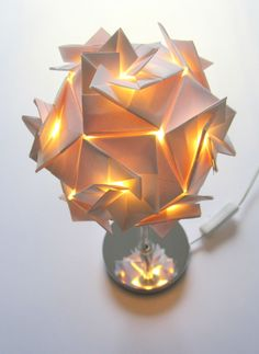 Origami Table Lamp by ArsOrigami.com