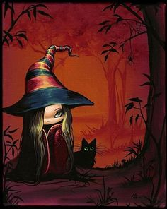 Art 'Little Witch and Shadow' - by Nico Niemi from witches