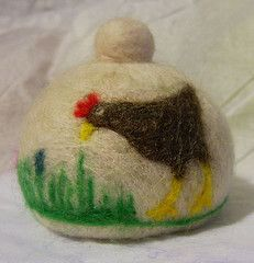 hen and chick egg cosy (The Big Sister) Tags: uk art chicken wool felted fun handmade felt gift needlefelting bigsister useful fibre artefacts needlefelt needlefelted eggcosy fffriends
