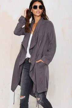 Keep cozy and cool in the BB Dakota Kerrigan Anorak Coat.
