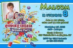 Chuck E Cheeses Birthday Invitation INSTANT DOWNLOAD Chuck E