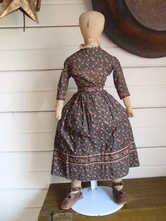 Late 19th C Cloth Doll, 25 in. tall x 7 in. across the shoulders x 10 in. across the hips. (click photo to read delightful description of this unique doll)