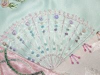 Look at that fan!  It's very pretty on a crazy quilt.  - by ufo_queen