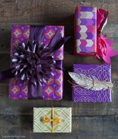 Plum and Gold Gift Wrap for Your New Year's Gifts