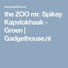 the ZOO mr. Spikey Kapstokhaak - Groen | Gadgethouse.nl