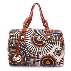 Follow The Latest Fashion To Wear Michael Kors Exotic Flower Medium Brown Multi Satchels With High Quality And New Style!