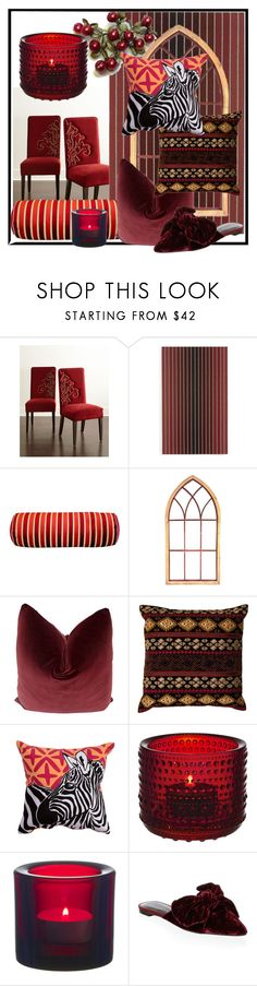 """""""Cranberry Accents"""" by dundiddit ❤ liked on Polyvore featuring interior, interiors, interior design, home, home decor, interior decorating, Haute House, Chilewich, Michael Michaud and National Geographic Home"""