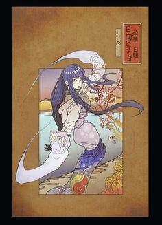 Hinata Woodblock postcard print by Sempaiko on Etsy