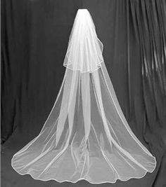 New 2T Bridal Accessories White Wedding Bridal Veil Cathedral with Comb jijh9o