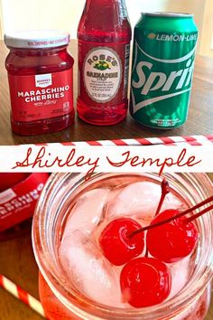 Shirley Temple Mocktail, Party Drinks, Cocktail Drinks, Cocktails, Malibu Drinks, Creamy Garlic Mashed Potatoes, Thanksgiving Games For Adults, Lemon Drink, Kitchens