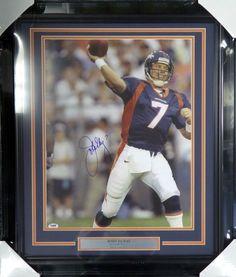 John Elway Autographed Framed 16x20 Photo Denver Broncos PSA/DNA