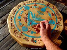 Shamanic drum to tap.
