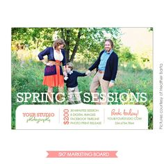 Photography Marketing board | Fresh spring | Photoshop templates for photographers by Birdesign