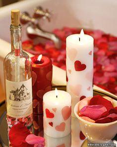 Velas con Corazones para San Valentin