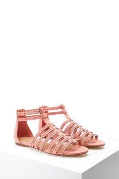 Faux Suede Sandals | Coral | s h o e s