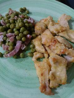 La cucina di Mari: Scaloppine di pollo all'arancia con contorno di piselli