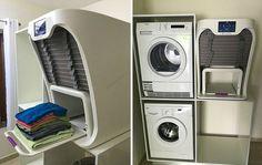 Inédito, já foi inventada a primeira máquina que passa e dobra a roupa