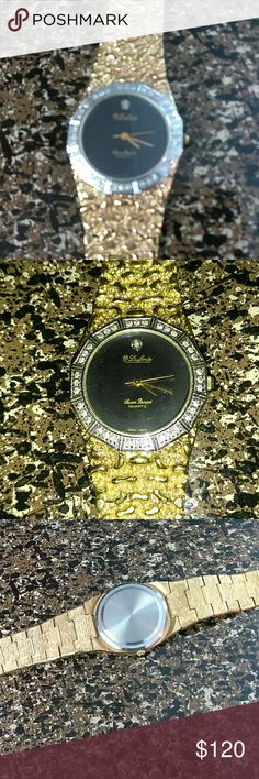 Dufonte Leon P watch Nugget watch nice can't read other part, with small diamond inside and all around black face.. Dufonte Accessories Watches