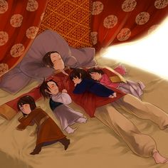 Fan Art of ~Asian Family~ for fans of Hetalia Siblings. China Hetalia, Latin Hetalia, Hetalia Korea, Hetalia Funny, Hetalia Fanart, Hetalia The Beautiful World, Sibling Photos, Hetalia Axis Powers, Kaichou Wa Maid Sama