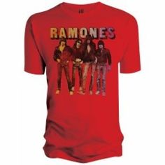 Electric T-Shirts - Ramones (Band Standing) T-Shirt - Male Gothic Outfits, Emo Outfits, Ramones T Shirt, Gothic Accessories, Concert Tees, Clothing Ideas, My Style, Mens Tops, Electric