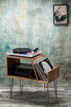 Record player stand, Record Player Cabinet, Media Console, Turntable stand   eBay Vinyl Record Stand, Vinyl Record Storage, Vinyl Records, Tv Storage, Best Vinyl Record Player, Vinyl Record Cabinet, Modern Record Player, Vinyl Record Display, Console Storage
