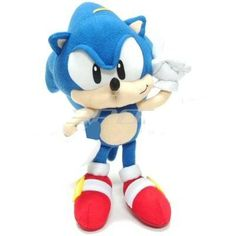 7 Inch Sonic the Hedgehog Plush Doll - Sonic the Hedgehog Stuffed Toy Sega Sonic And Amy, Sonic Sonic, Sonic The Hedgehog Costume, Sonic Party, Toy 2, Christmas Toys, Toy Boxes, Plush Dolls, Toys For Boys