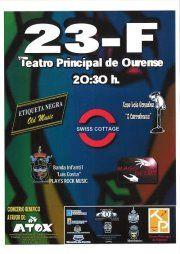 Festival benéfico a favor de ATOX @ Teatro Principal - Ourense musica humor concerto concierto Swiss Cottage - Etiqueta Negra - O Carrabouxo - Mago Deimi - Banda Infantil Luis Costa
