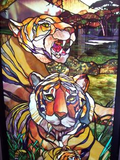 Stained Glass Tigers 05/30 by daxster78, via Flickr  Glass Painting Artist, Peter McGrain