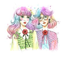 Gucci S/S 2016 and rainbow hair by Sara Miau.