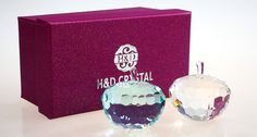 Apple Crystal Paper Weight Office Home Decorations Birthday Gifts