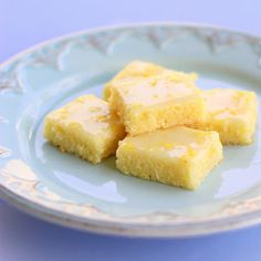 Lemon Brownies    Ingredients:  Brownies:  3/4 cup all-purpose flour  3/4 cup granulated sugar  1/4 teaspoon sea salt  1/2 cup (1 stick) unsalted butter, softened  2 large eggs  2 tablespoons lemon zest  2 tablespoons lemon juice    Tart Lemon Glaze:  1 rounded cup powdered sugar  3 tablespoons lemon juice  3 teaspoons lemon zest
