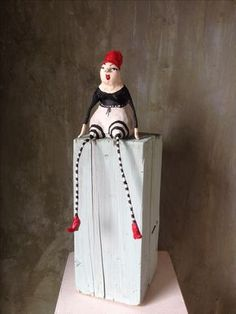 Papermache and wire, artdoll