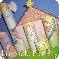 DIY Printable Nativity for Kids {Christmas} I made a printable Christmas nativity set craft a few Christmases ago, and it's been a very popular post. It's free… Christmas Activities For Kids, Preschool Christmas, Christmas Nativity, Noel Christmas, Christmas Ideas, Christmas Worksheets, Christmas Printables, Christmas Christmas, Christmas Decorations