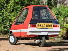 All Bamby cars were three-wheelers with the single wheel  at the rear. On the later models such as  this, the brakes were hydraulic and two headlamps  fitted replacing the single unit on early Bambys. The model was  exhibited at the Ideal Home Exhibition of 1984, meeting with  overall public approval but few were made and the final Bamby left  the factory within a few months. This Bamby was registered on 26th,  September 1984 and has only covered 2,613 miles from new. These are  unusual…