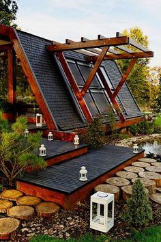 Soleta Zero Energy House is a modular eco-friendly dwelling.