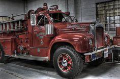 Vintage Fire Truck, mack b model