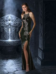 """""""Simply Wicked"""" Disney Forever Enchanted Prom Dresses~ L I Bridal and Formal, Sioux Falls SD"""