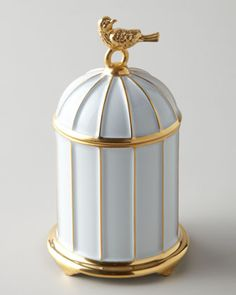 """""""Bird Cage"""" Candle by L'Objet at Neiman Marcus, 3''x6'', $95"""