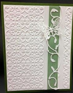 Embossed back panel, border strip, vine border, butterfly