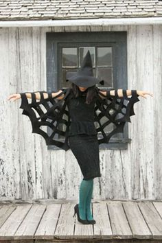 Spiderweb: This easy-to-make costume is picture-perfect.