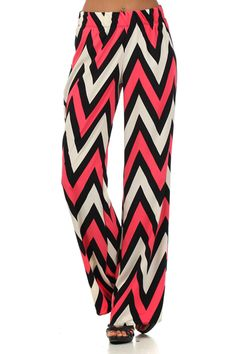 Red, white, and black chevron pants - not a fan of the UGA colors, but these are cute.