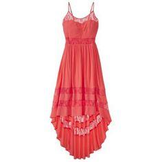at Target 27.99Xhilaration® Junior's Lace Cutout High Low Maxi Dress - Coral