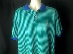 RALPH LAUREN POLO Mens 1XB Big Golf Shirt Green and Blue #RALPHLAUREN #PoloRugby