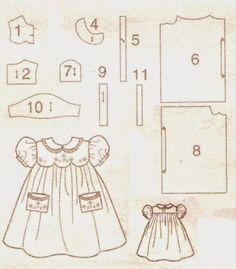 molde de vestidos infantil para batizado